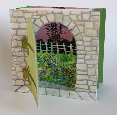 The Secret Garden artists Tunnel Book